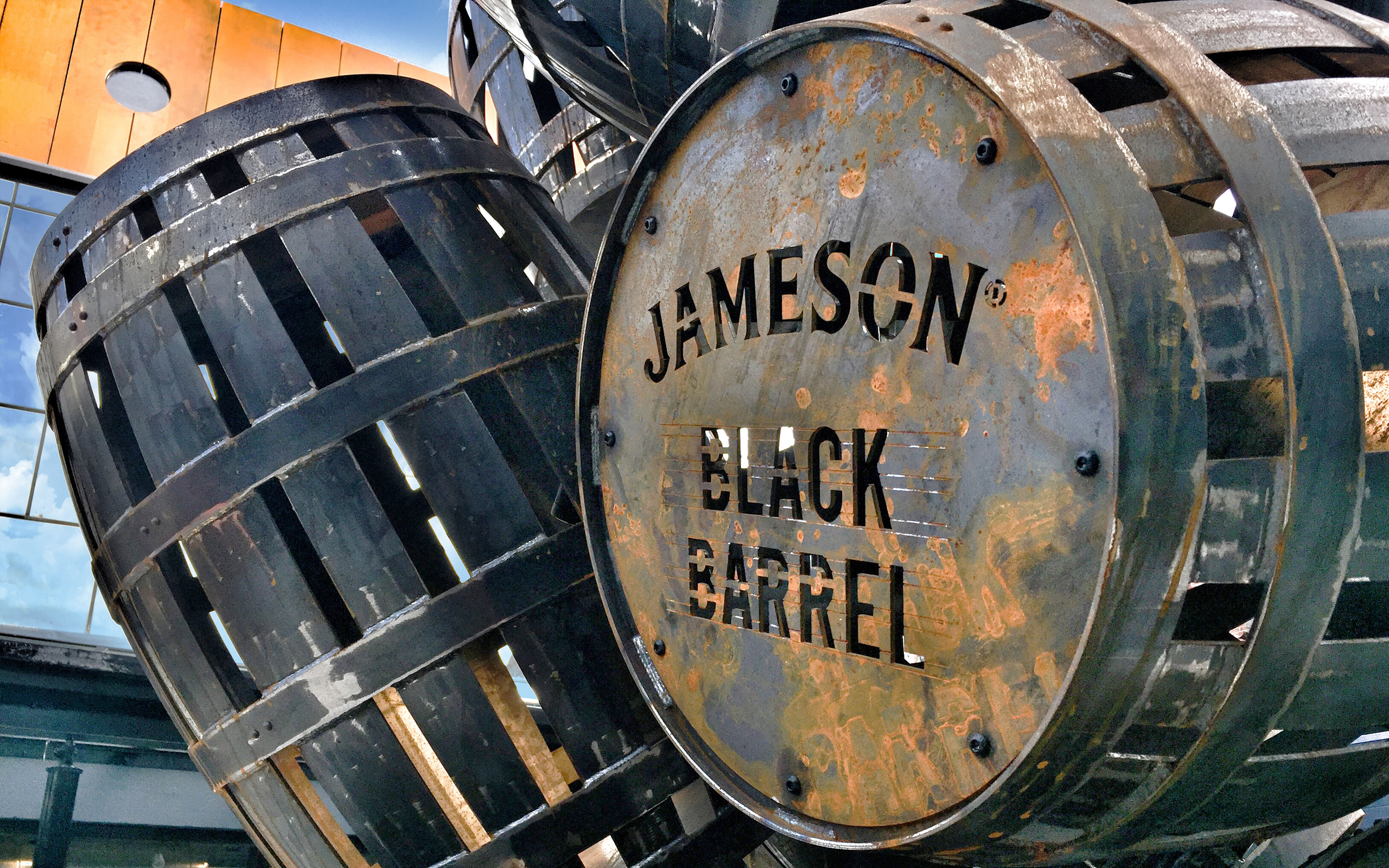 Jameson Black Barrel Sculpture