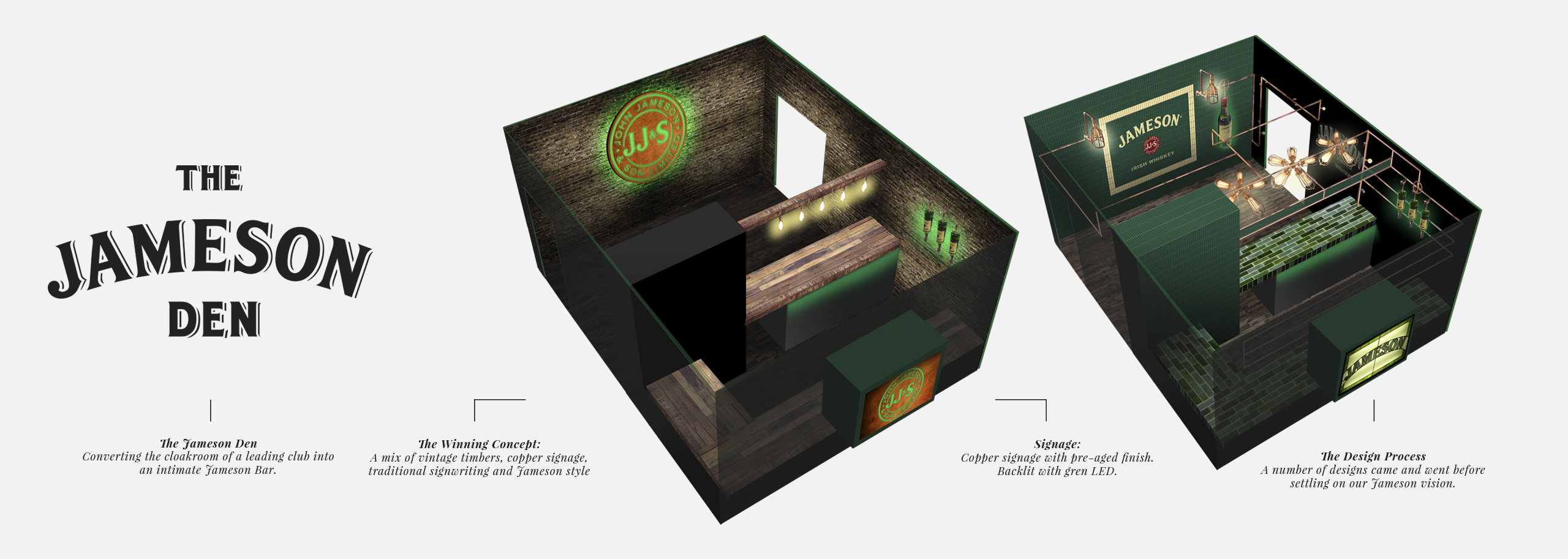 Jameson Whiskey Pop-up bar